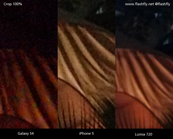 Nokia Lumia 720 vs iPhone 5 va Samsung Galaxy S4 – Low Light