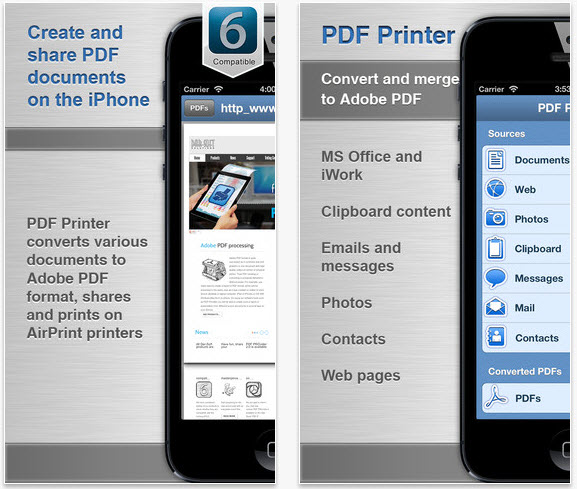 free pdf printer for iphone