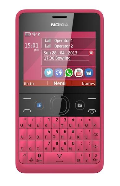 โนเกียวางจำหน่าย Nokia Asha 210 สมาร์ทโฟนสองซิมพร้อมปุ่ม