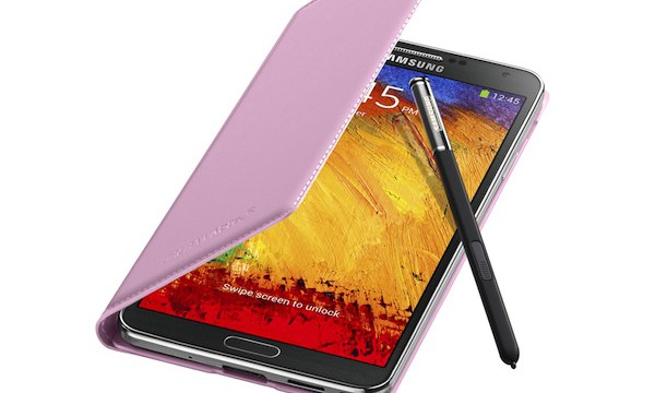 Galaxy Note3 FlipCover_004_Open Pen_Blush Pink