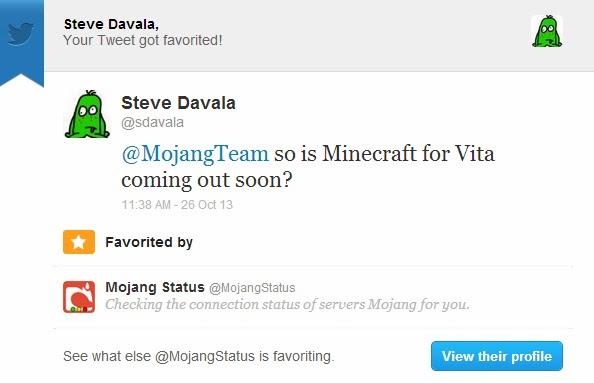 minecraft tweet