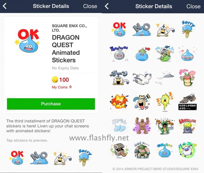 line-sticker-dragon-quest-animated-flashfly