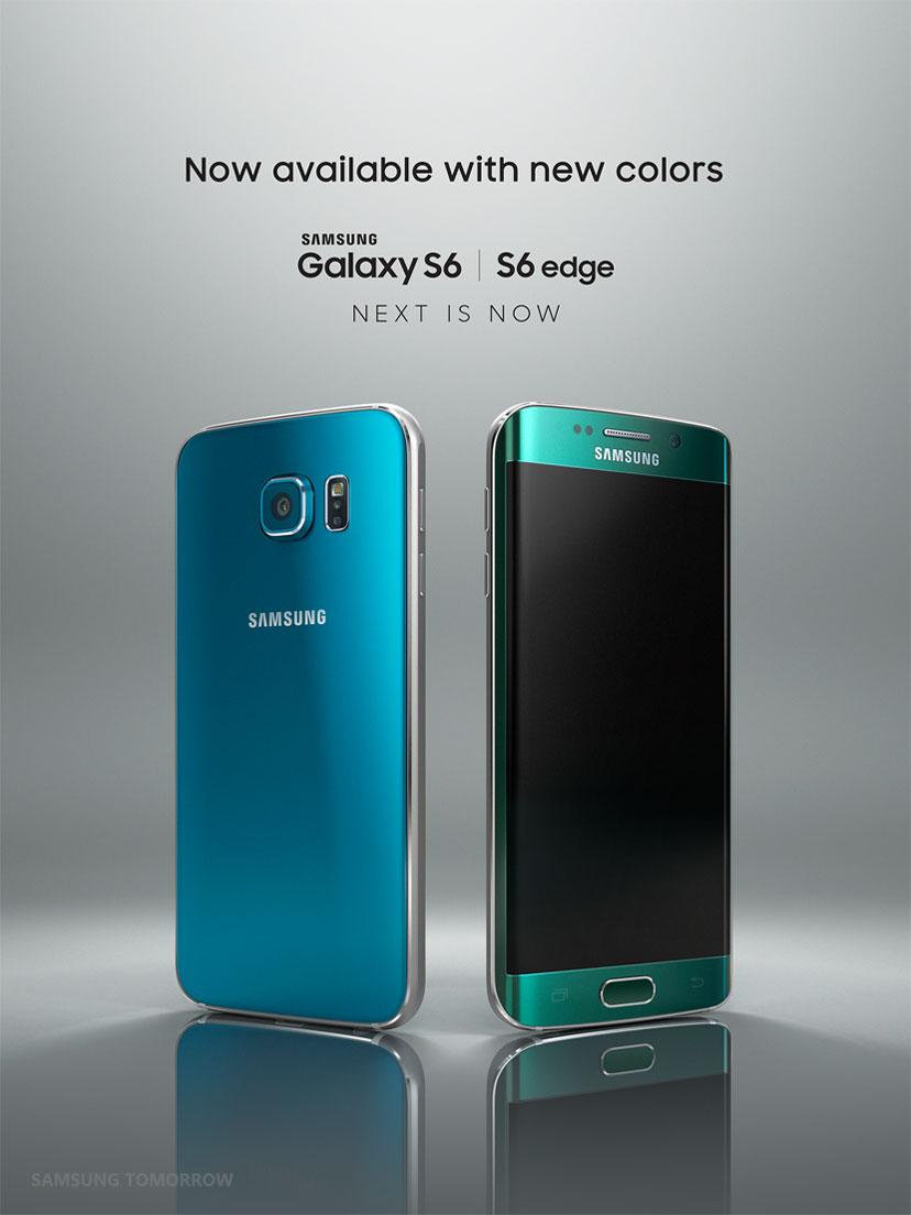 Samsung-Galaxy-S6-Topaz-Blue-And-Galaxy-S6-Edge-Emerald-Green
