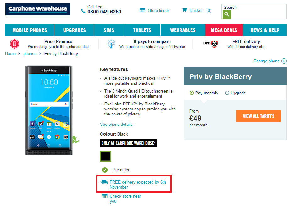 BlackBerry-Priv-up-for-pre-orders-from-Carphone-Warehouse