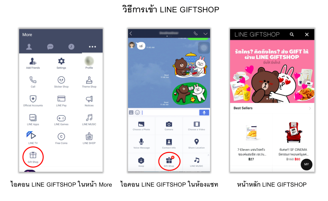 How to Access LINE GIFTSHOP