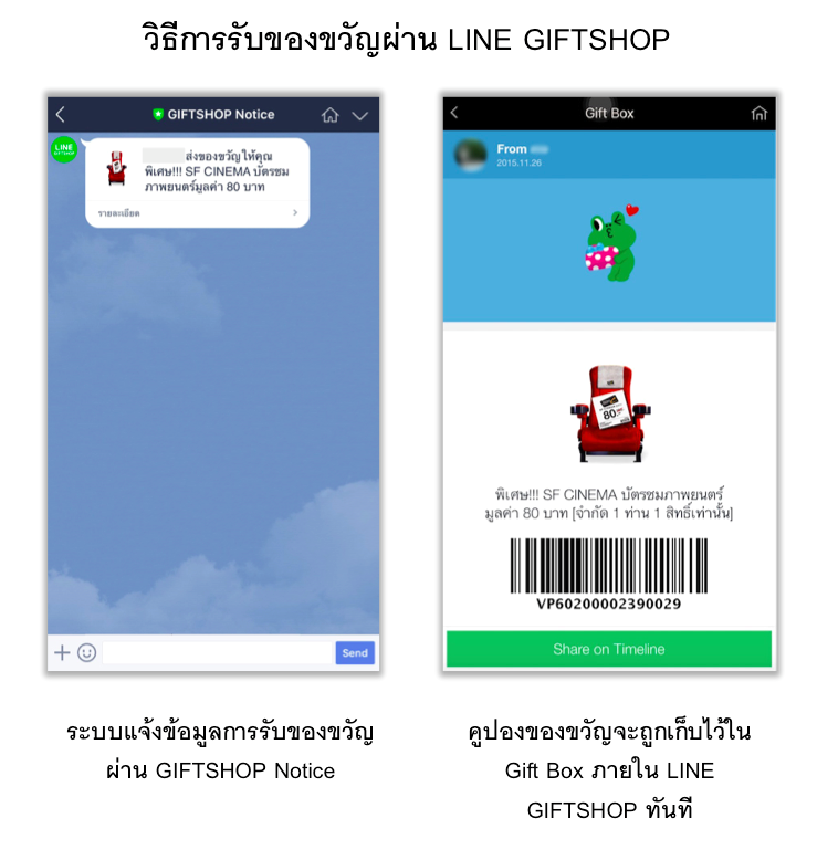 How to Receive LINE GIFTSHOP