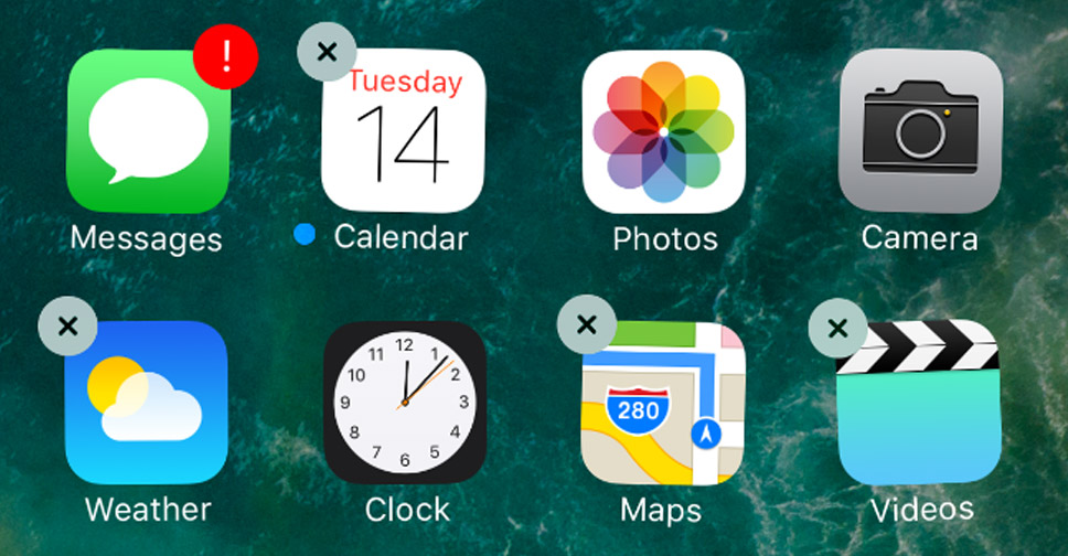iOS10-delete-default-app-001