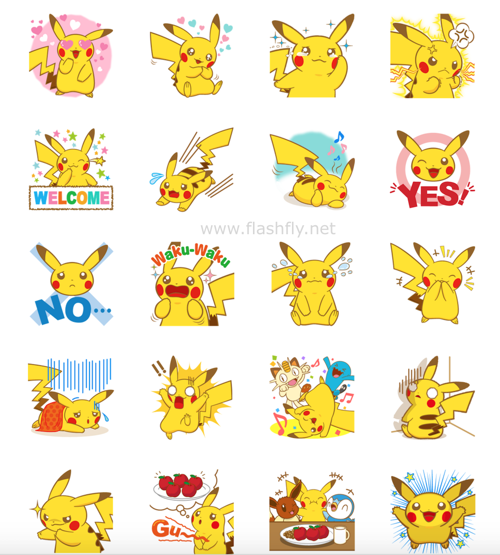 pokemon-LINE-Sticker-flashfly