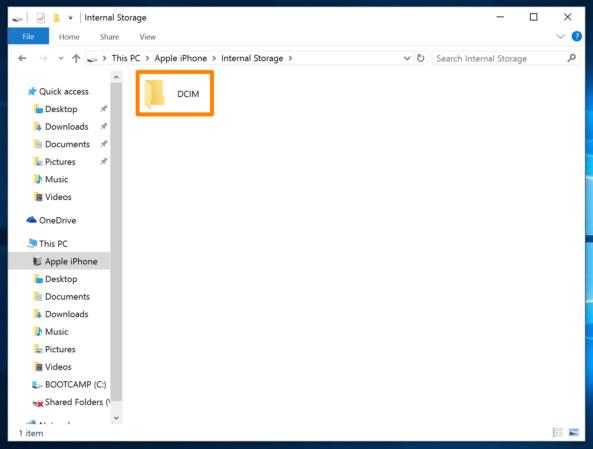 Windows-Explorer-DCIM-folder