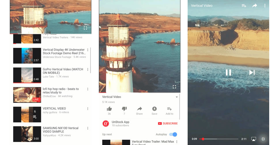 YouTube-vertical-view