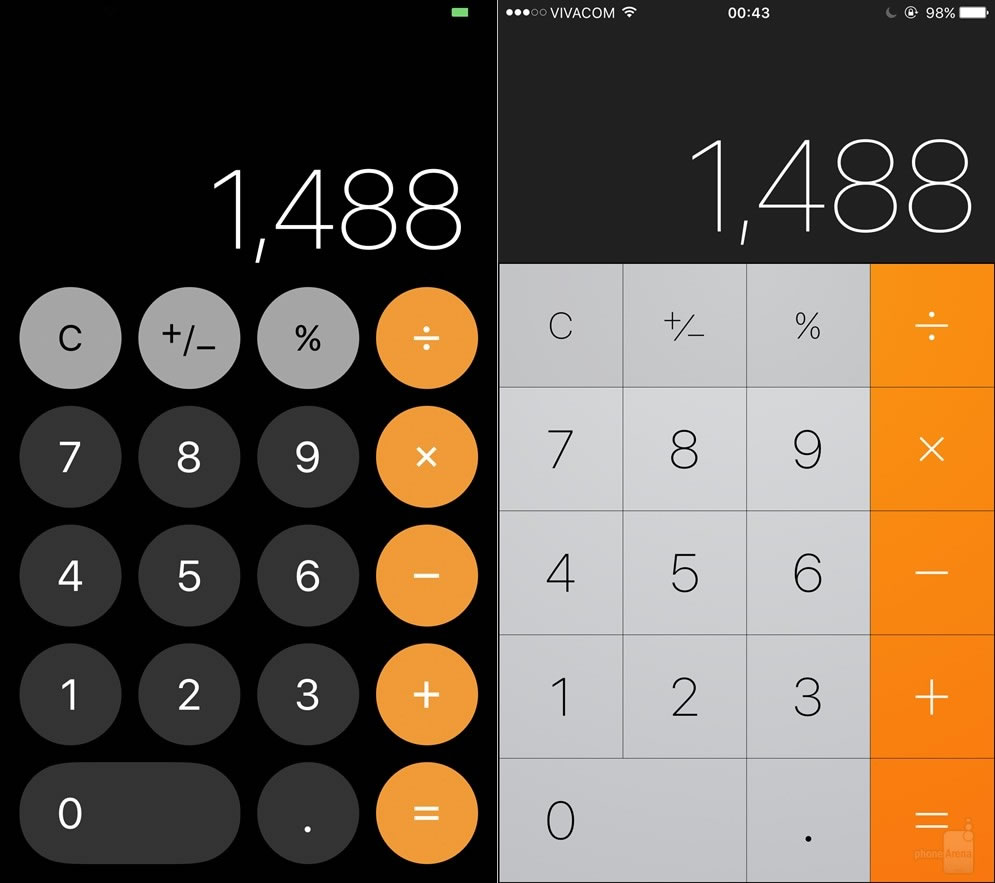 ios11-vs-ios10-Calculator