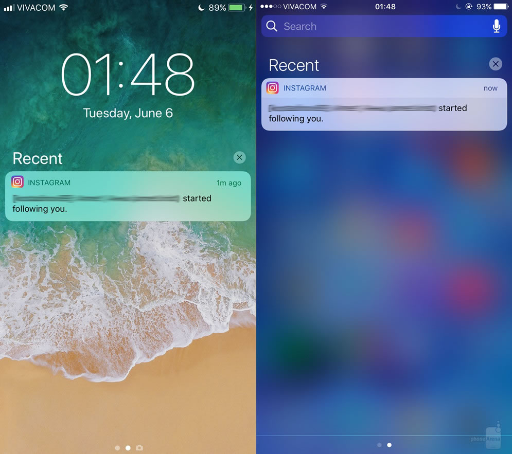ios11-vs-ios10-Notification-Center