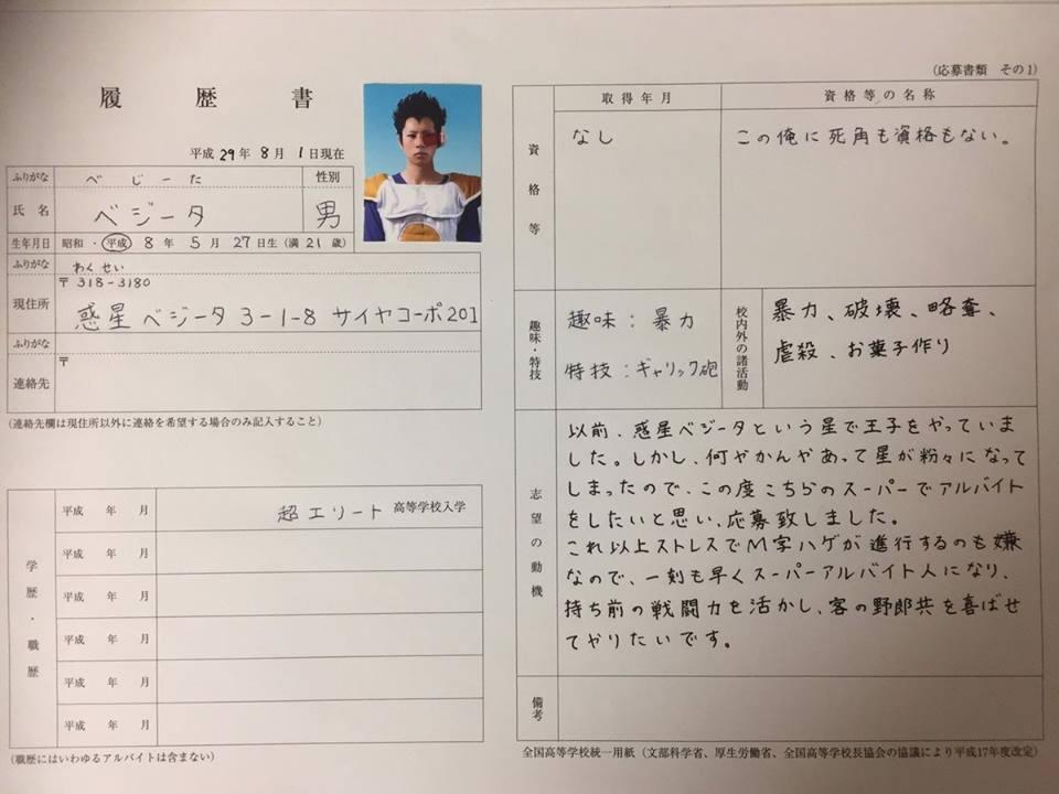 Vegeta-Resume-Japan