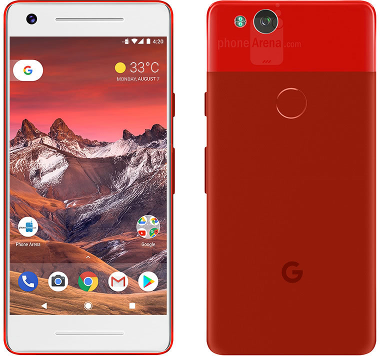 google-pixel-2-red