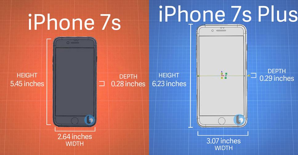 เผยขนาดบอดี้ iPhone 7s กับ iPhone 7s Plus ยังใกล้เคียง ...