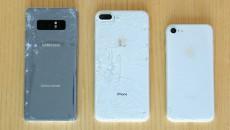galaxy-note-8-vs-iphone-8-drop-test