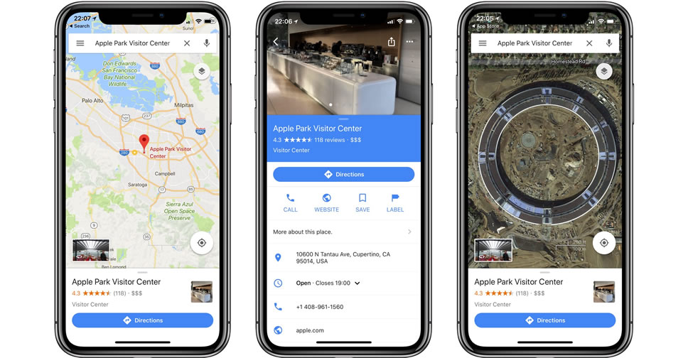 Google-Maps-for-iPhone-X