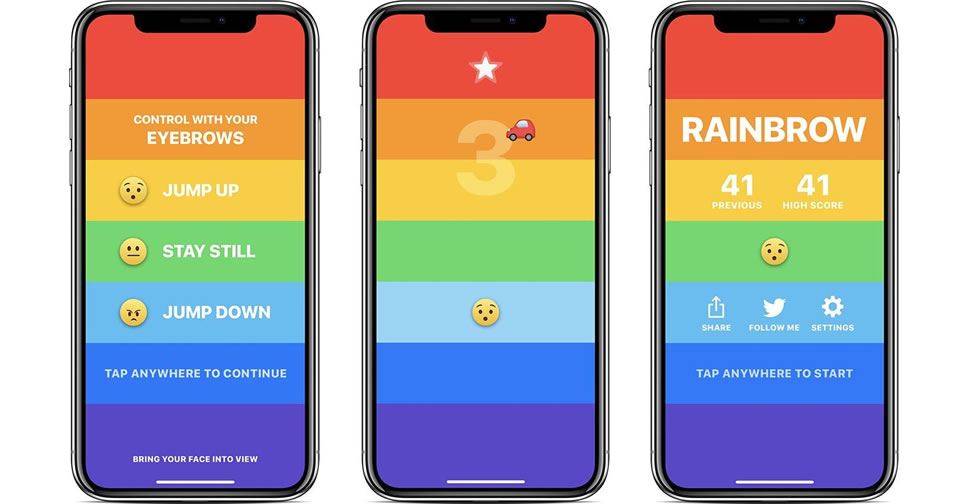 Rainbrow-game-for-iphone-x