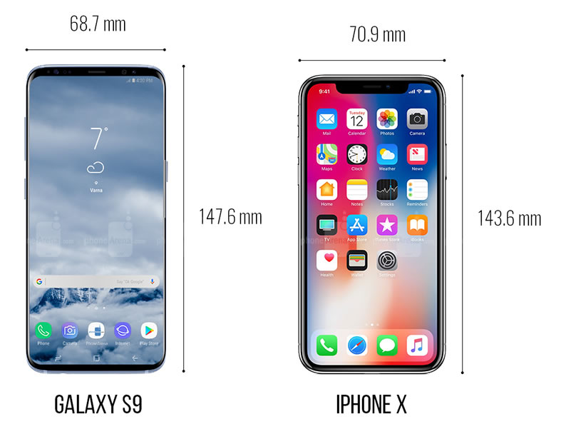 galaxy-s9-vs-iphone-x