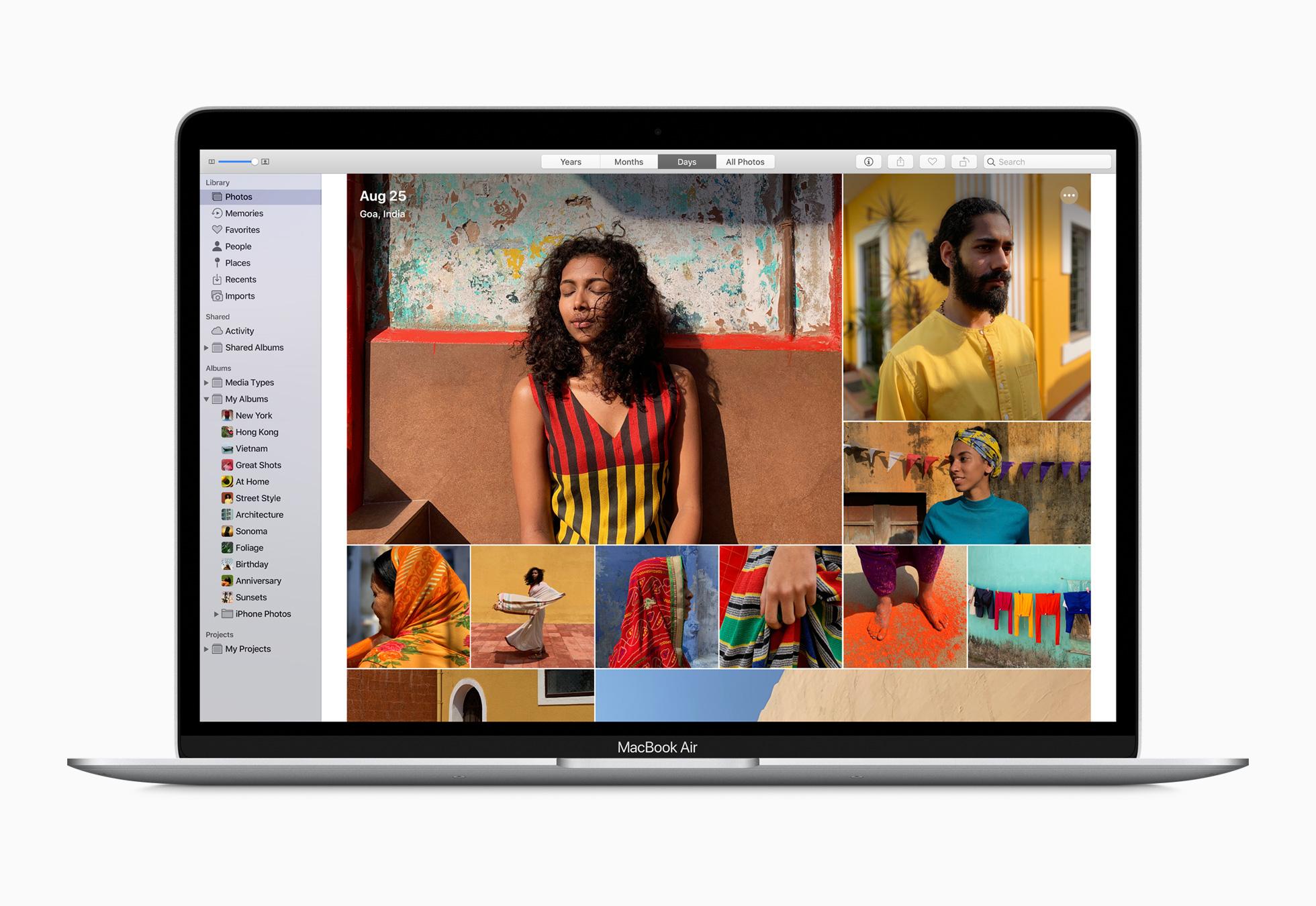 พื้นที่จัดเก็บของ MacBook Air เริ่มต้นที่ 256GB ผู้ใช้จึงจัดเก็บภาพยนตร์ รูปภาพ และไฟล์ต่างๆ ได้เยอะขึ้นอีก