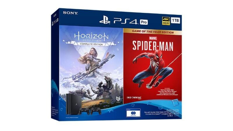 PlayStation 4 Pro Marvel's Spider-Man Game Of The Year Edition / Horizon Zero Dawn™ Complete Edition Bundle