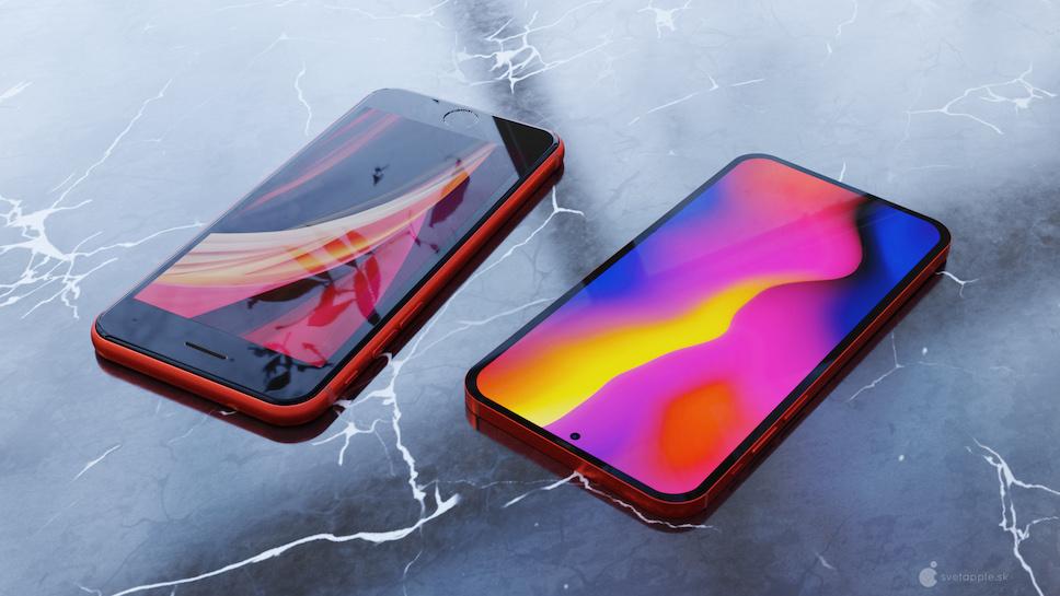 ชมคอนเซ็ปต์ iPhone SE 2021 ดีไซน์ไร้กรอบ หน้าจอแบบ Punch ...
